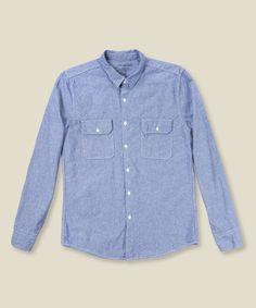 save khaki / chambray shirt
