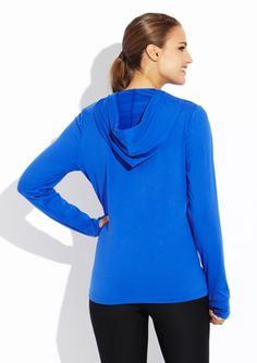 BALLY TOTAL FITNESS Sanded Dry Wik Hoodie with Thumbhole