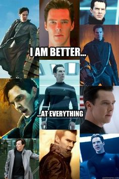Because he's Benedict Cumberbatch. Someone get this man a theme song already.