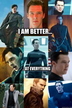 Benedict Cumberbatch - may be pictures from Star Trek, but he's still Sherlock to me ^-^ Martin Freeman, Sherlock Holmes, Tom Hiddleston, Khan Benedict, Imitation Game, John Harrison, Epic Hair, Mrs Hudson, Star Trek Into Darkness