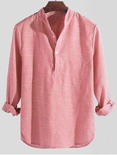 P/&E Men Lapel Neck Long Sleeve Comfort Print Curved Hem Button Down Shirts