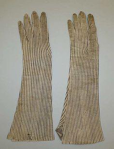 Gloves late 18th century, Italian, leather
