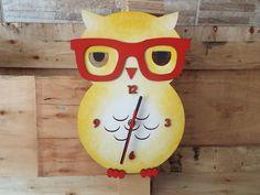 Relógio Coruja com óculos