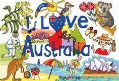 I Love Australia - Counted Cross Stitch Kit