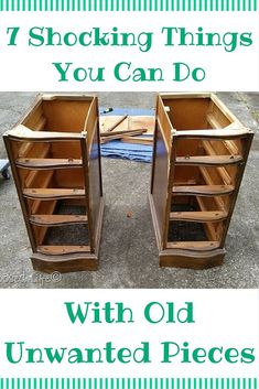 DIY 7 Beautifully Brilliant Home Hacks Anyone Can do - With Unwanted Furniture !
