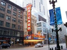 Chicago Theatre.  Lets just take a picture infront of it.