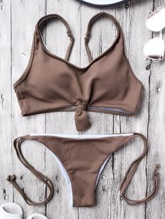 SHARE & Get it FREE | Cami Bralette String Bikini Set - CoffeeFor Fashion Lovers only:80,000+ Items • New Arrivals Daily Join Zaful: Get YOUR $50 NOW!
