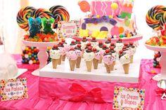Treats at a Candyland Birthday #candyland #birthdaytreats