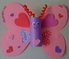 Valentine's craft for kids, easy craft for preschooler. heart craft, valentine craft