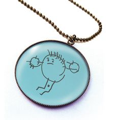 Personalized necklace with your child's drawing by HappyBulle, $28.50