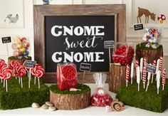 Woodland Gnome | Birthday Express - I bought the plates and they are very cute!