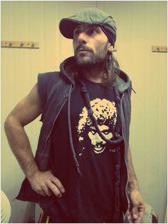 Miguel Campello con su camiseta del Espectáculo Eterno Camarón