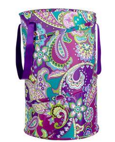 Vera Bradley pop-up laundry bag: dorm swag! perfect for camp