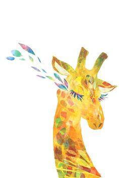 Abstract painting of a giraffe. Giraffe Drawing, Giraffe Art, Illustrations, Illustration Art, Animal Line Drawings, Elephas Maximus, Kids Zoo, Fabric Animals, African Elephant