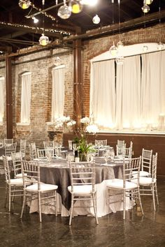 Modern + elegant reception // hey, that's where we're getting married!