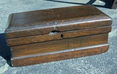 Antique Country Wood Primitive Carrpenters Toolbox Tool Chest   eBay