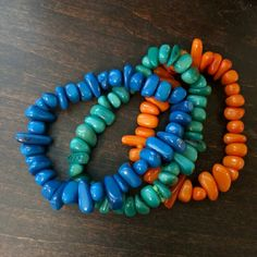 Cool colorful stones bracelet set A fun pop off color to any of your outfits! Jewelry Bracelets