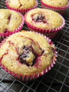 Blackberry Coconut & Lime Muffins (almond flour, coconut milk, coconut ...