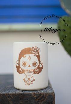 """""""Las Divinas"""" porcelain 100% handmade in Barcelona.  By Anne Decis & Blowawish  blowawish.com Copper Decor, Espresso Shot, Woman Face, Mugs, Handmade, Inspiration, Porcelain Ceramics, Biblical Inspiration, Mug"""