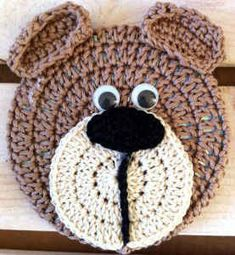 FP205 Bear Critter Coaster...This would also make a cute appliqué ...free pattern!