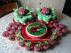 Torta, Gelatinas, CupCake´s de Coquitos Rojos :)