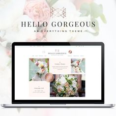 WordPress Themes as the base for your brand. Add your logo, photos, content & change the colors in the customizer to create a Designer Quality, gorgeous website! #afflink  #affiliate