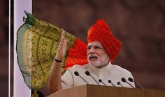 Indian Prime Minister Narendra Modi  addresses the nation about societal blight of rape and female infanticide on the country's Independence Day