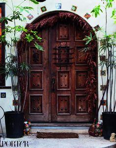 Step Inside Erin Wasson's Bohemian Venice Beach Home via @MyDomaine// I like this entrance