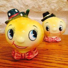 Vintage PY Norcrest Anthropomorphic Lemon People by BobsGoodJunk