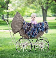 Pretty as a Picture, Posing in the Park!  ;)  Fringe Photography Props Blanket Handmade by designer BabyBirdz, $95.00
