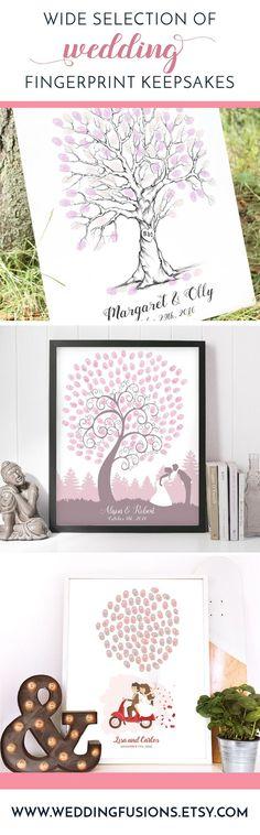36 Trendy Tree Artwork For Kids Guest Books Diy Wedding Gifts, Wedding Keepsakes, Wedding Favors, Diy Gifts, Unique Gifts, Wedding Invitations, Tree Artwork, Kids Artwork, Fingerprint Wedding