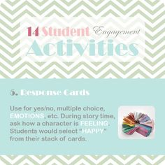 14 Activities That Increase Student Engagement During Reading Instruction Response Cards, No Response, Reading Horizons, Reading Specialist, Student Engagement, Classroom Activities, Story Time, Lesson Plans, Teacher