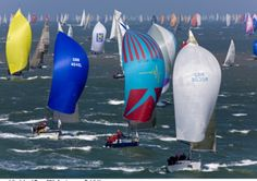 Thousands of boats, of all sizes and formats, will compete in the popular Round the Island Race around the Isle of Wight tomorrow Picture: Thierry Martinez