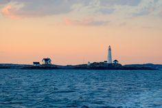 Boston Harbor Light house at Sunset, via Flickr.