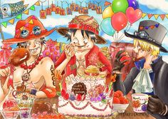 ASL Brothers Portgas D Ace Sabo Monkey D Luffy One Piece