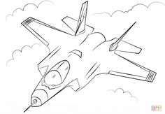 Fighter Jet Coloring Page Fresh Stealth Multirole Fighter F 35 Coloring Page Spider Coloring Page, Moon Coloring Pages, Coloring Pages For Kids, Coloring Books, Cartoon Drawings, Easy Drawings, Printable Crafts, Printables, Airplane Coloring Pages
