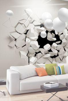 Papier peint - Release Me! 3d Wall, 3d Design, Decoration, 3 D, Art Deco, Wallpaper, Painting, Relief, Inspiration