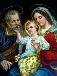 """theraccolta: """" The Holy Family of Jesus, Mary, and Joseph """" I Love My Mother, Blessed Mother Mary, Blessed Virgin Mary, Catholic Prayers, Catholic Art, Religious Art, Jesus Father, Image Jesus, Religion Catolica"""