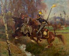 Zygmunt Rozwadowski - Skirmish With Polish Cavalry