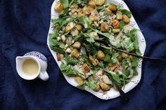 Eleanor Ozich of Petite Kitchen shares a simple but classy seasonal spring potato salad. Salad Recipes Video, Salad Recipes For Dinner, Salad Recipes Healthy Vegetarian, Spring Potato, Petite Kitchen, Spring Salad, Vegetable Pizza, Potato Salad, Stuffed Peppers