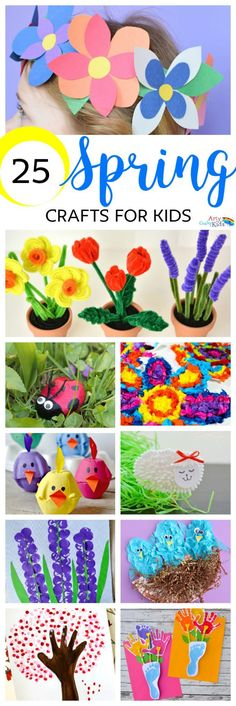 Arty Crafty Kids | Crafts | Spring | 25 Spring Crafts for Kids | Discover a gorgeous collection of easy and fun Spring crafts for kids!