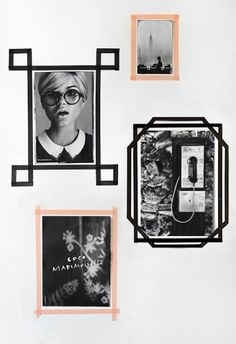 Photos encadrées de washi tape