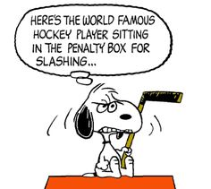 Snoopy - The World Famous Hockey Player Serving Time in The Penalty Box Charlie Brown Peanuts, Peanuts Snoopy, Hockey Pictures, Snoopy Images, Peanuts Characters, World Famous, Hockey Players, Hacks, Humor