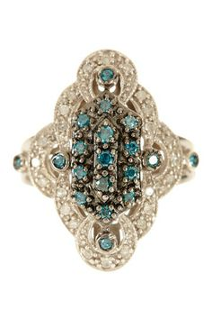 Blue & White Diamond Ring - 0.50 ctw by Savvy Cie on @HauteLook
