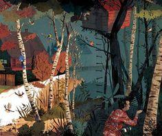 Hyper-Utopian Suburb Illustrations  Anton Van Hertbruggen Renders Strangely Cozy Graphics