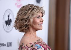 Short Hairstyles Lookbook: Jane Fonda wearing Curled Out Bob (2 of 2). Jane Fonda wore her hair in a classic curled-out bob at the 2016 Carousel of Hope Ball.