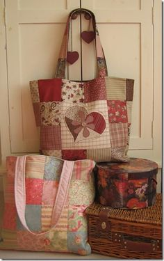 bag patchwork patterns free - Pesquisa Google