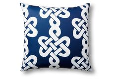 Newport 20x20 Outdoor Pillow, Blue