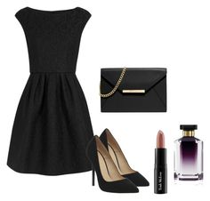 """""""Little Black Dress"""" by kaitlynsalisbury on Polyvore featuring Boutique Moschino, Office, STELLA McCARTNEY, MICHAEL Michael Kors and Trish McEvoy"""