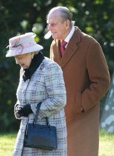Britain's Queen Elizabeth and Prince Phillip attend church at West Newton near Sandringham, 02.02.14